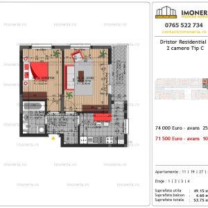apartament 2 camere Dristor Residential 3 tip c