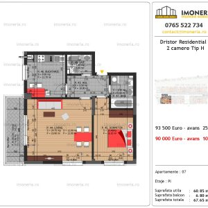 apartament 2 camere Dristor Residential 3 tip h