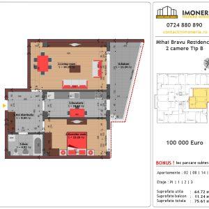 Mihai Bravu Residence 8 Apartament 2 camere