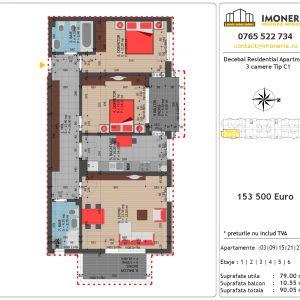 Apartamente de vanzare Decebal Residential Apartments -3 camere tip C1