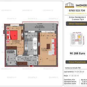 Apartamente de vanzare Dristor Residential 4 - 2 camere tip A