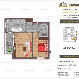 Apartamente de vanzare Dristor Residential 4 - 2 camere tip E
