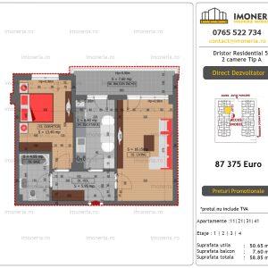 Apartamente de vanzare Dristor Residential 5 - 2 camere tip A